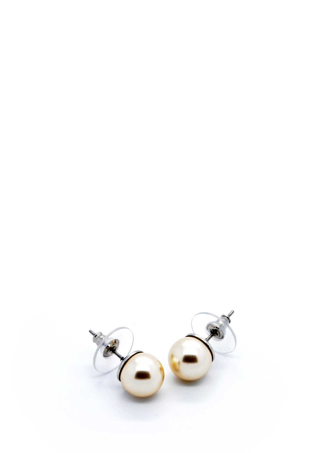 Absolute Jewellery Pearl Stud Earrings, Natural