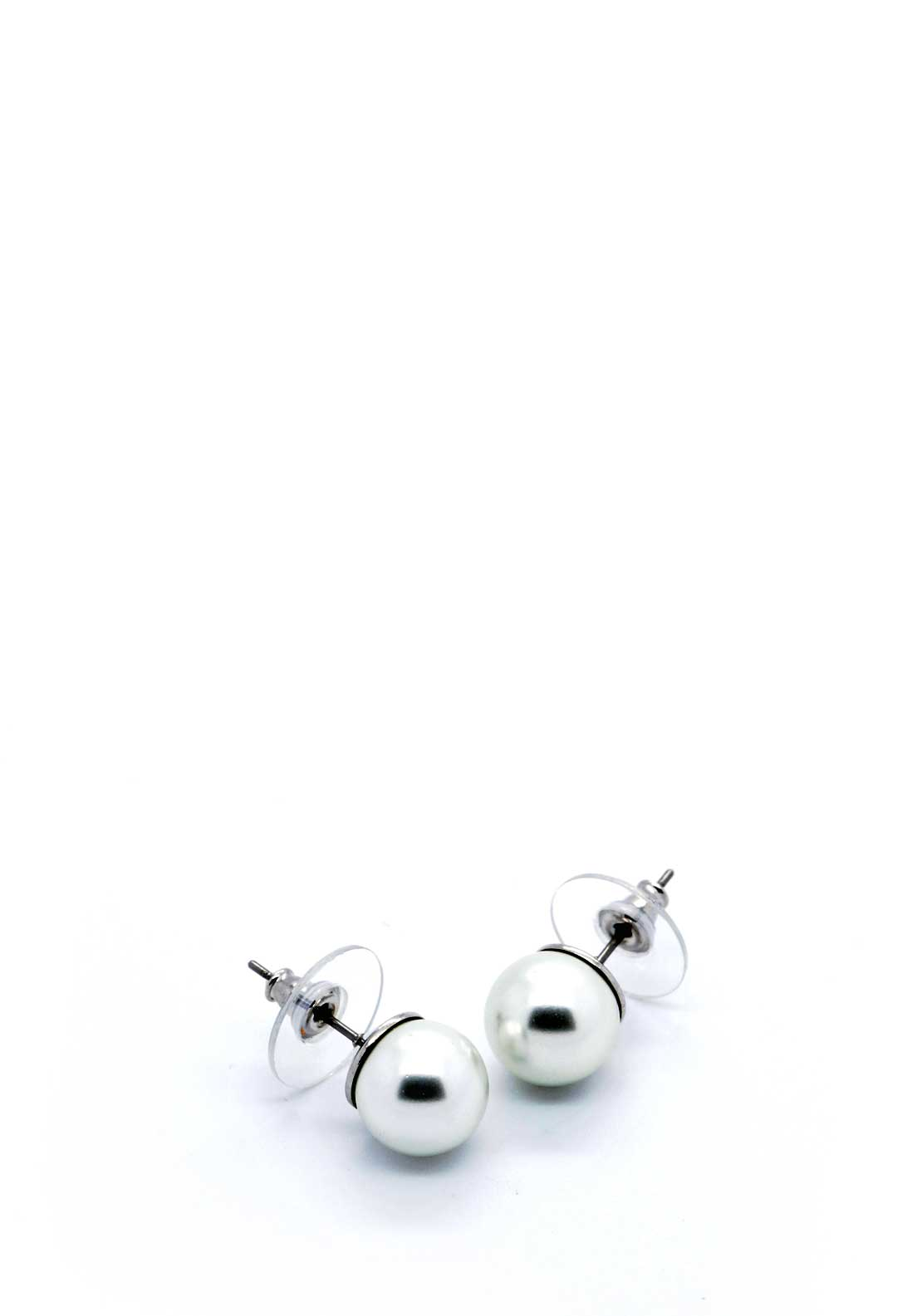 Absolute Jewellery Pearl Stud Earrings, White