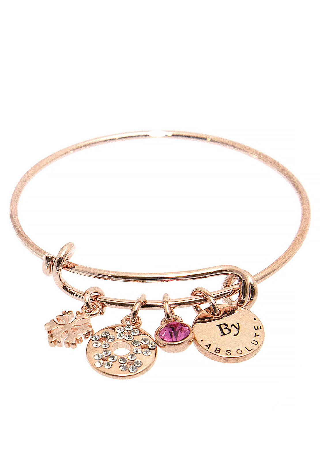 Absolute Jewellery Girls July Charm Bangle, Rose Gold