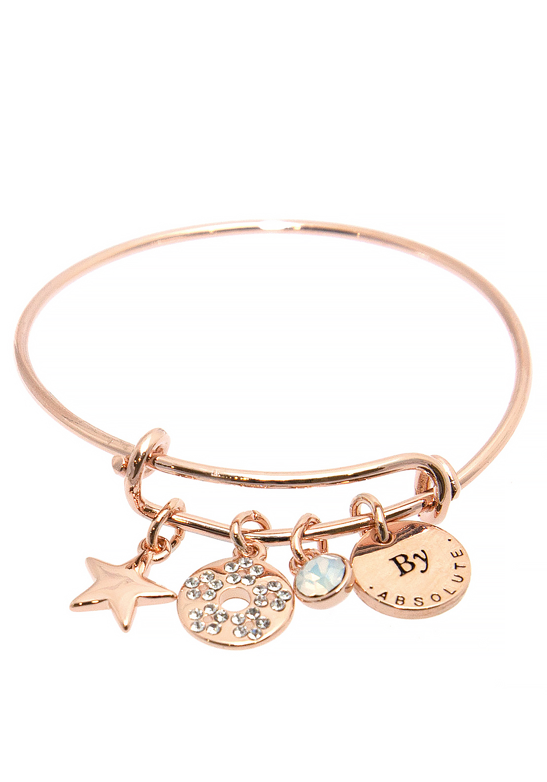 Absolute Jewellery Girls October Charm Bangle, Rose Gold