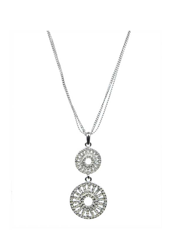 Absolute Jewellery Glitzy Chandelier Necklace, Silver