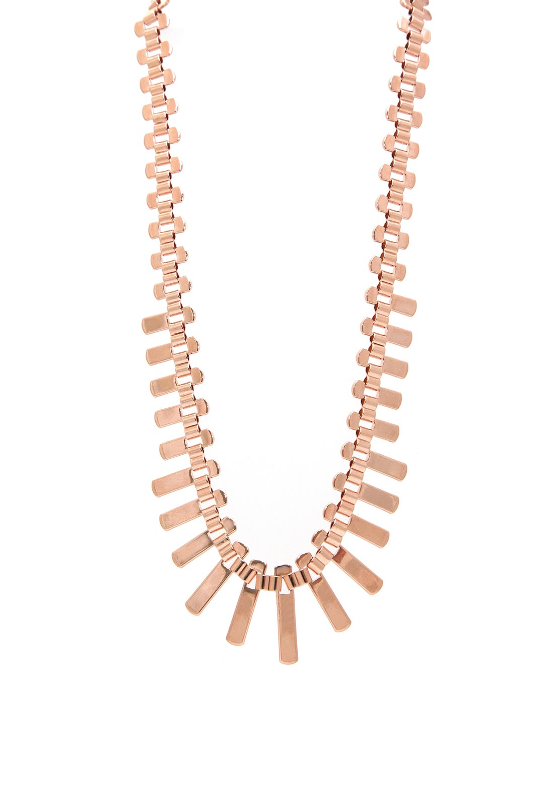 Absolute Track Necklace, Rose Gold