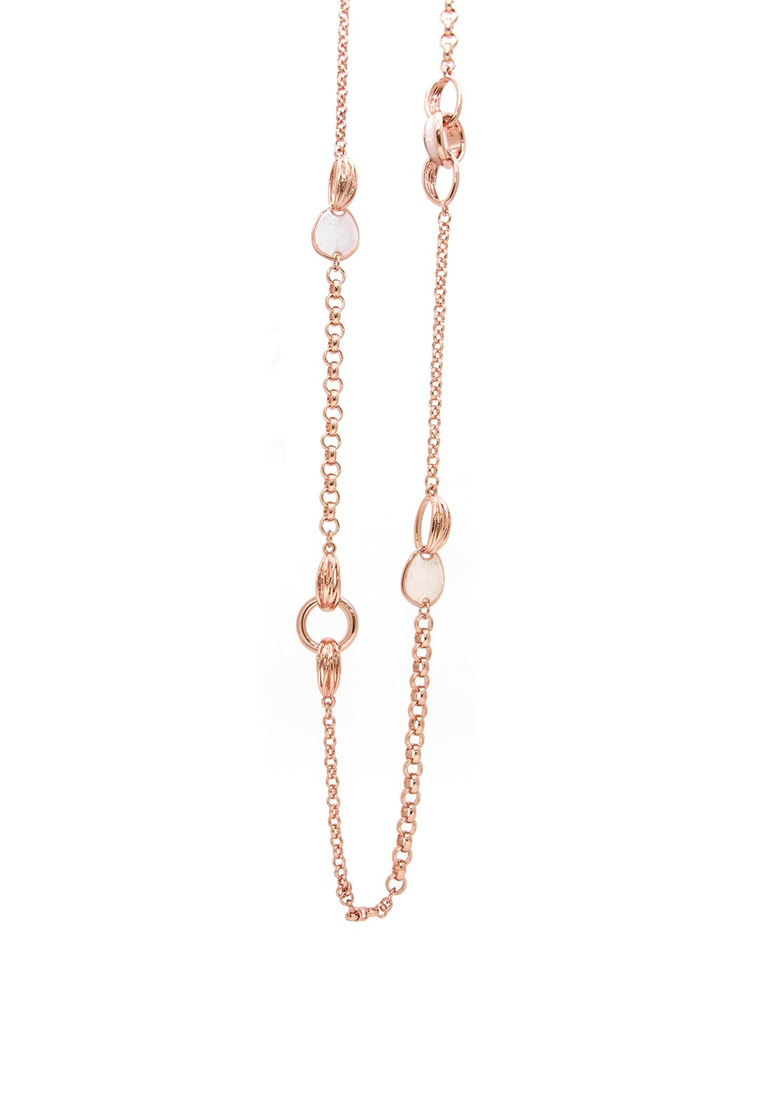 Absolute Long Embellished Chain, Rose Gold