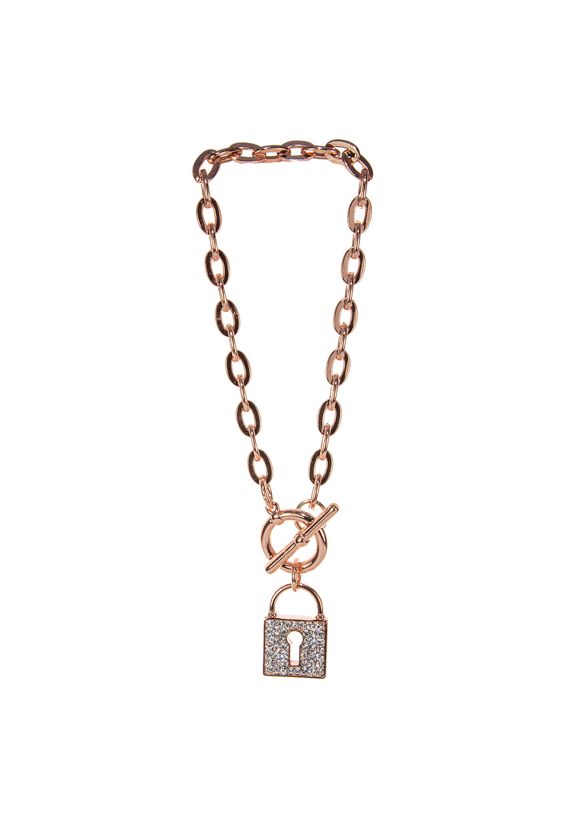 Absolute Locket Charm Link Bracelet, Rose Gold