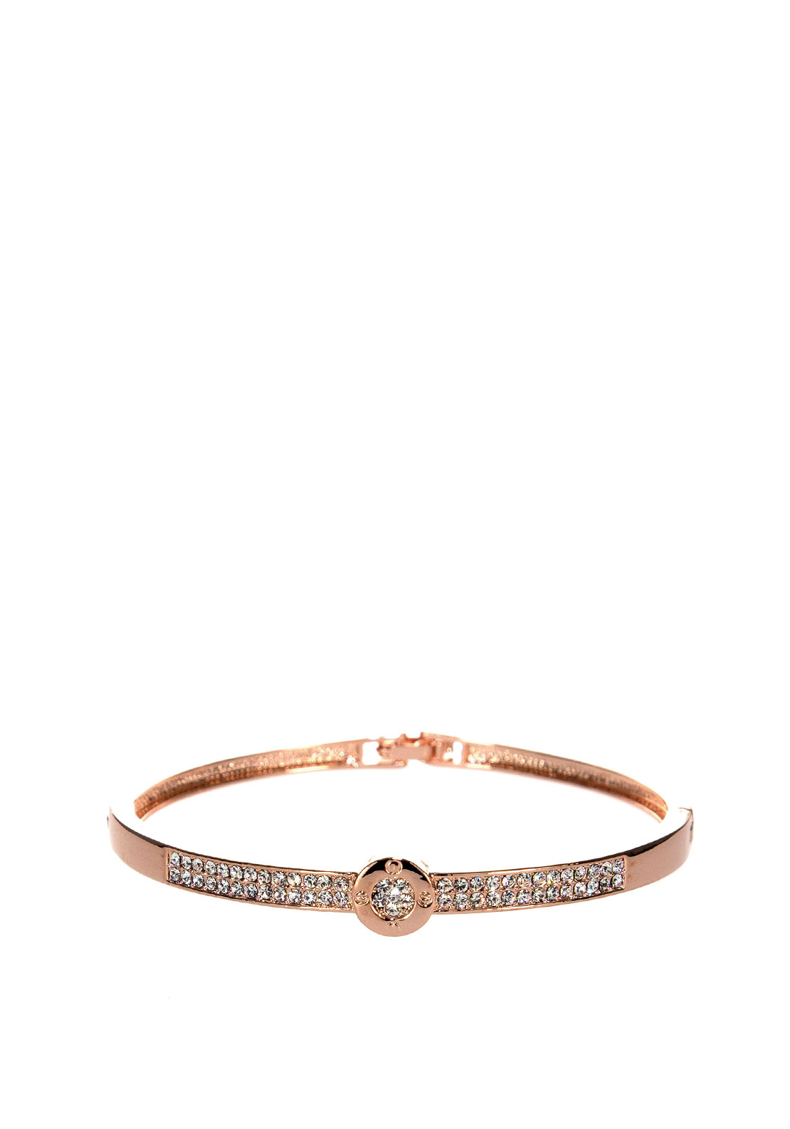 Absolute Crystal Embellished Bangle, Rose Gold