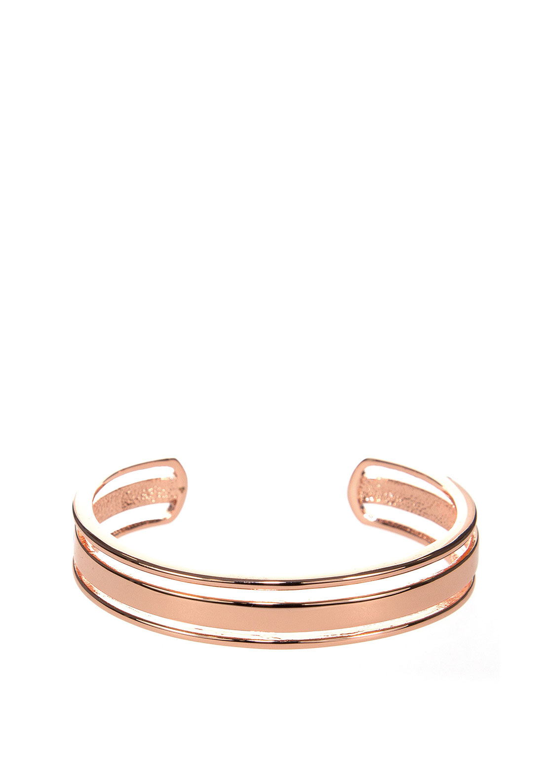 Absolute Sliced Open Cuff Bangle, Rose Gold