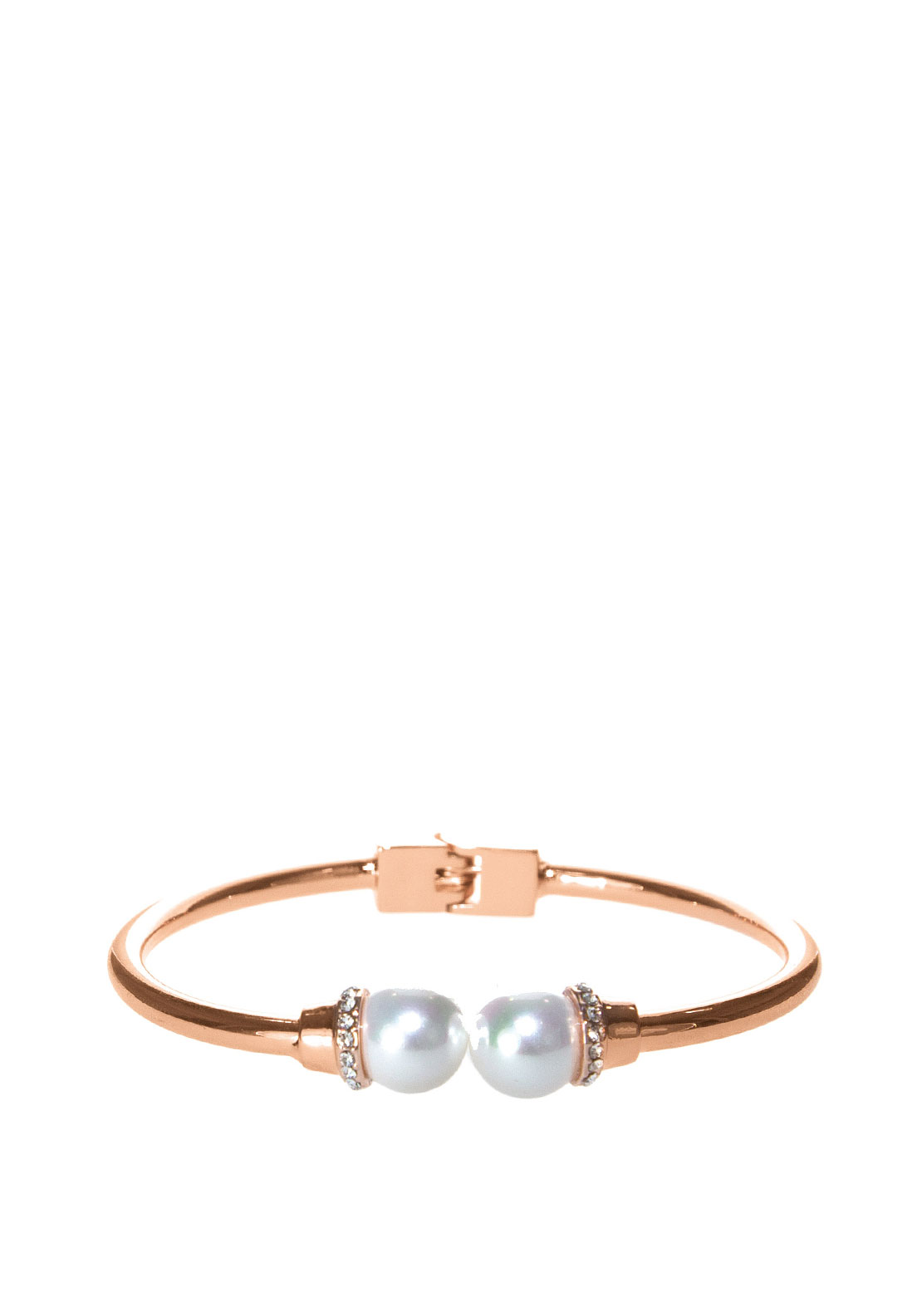 Absolute Hinged Pearl Bangle, Rose Gold