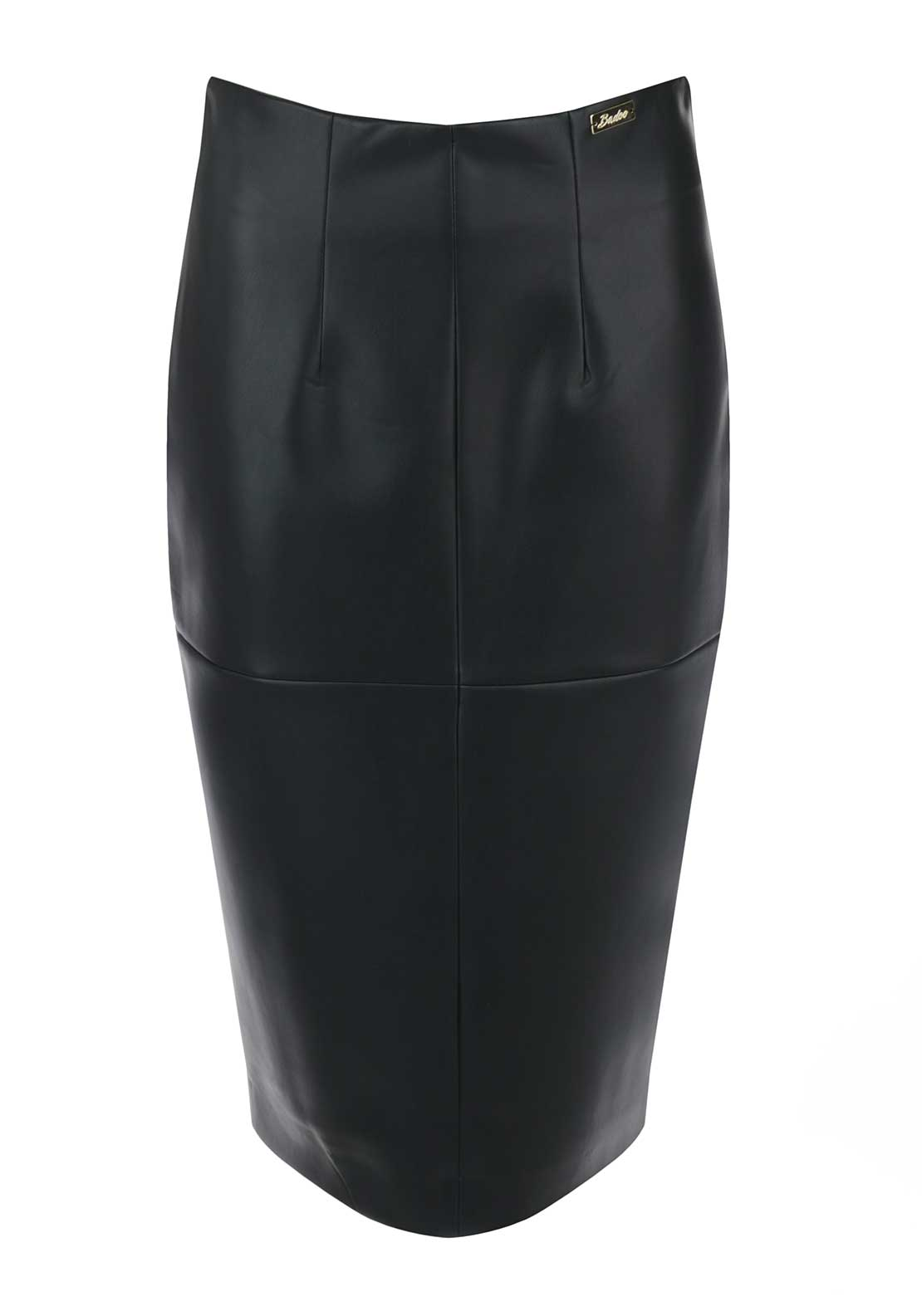 Badoo Faux Leather Pencil Skirt, Black