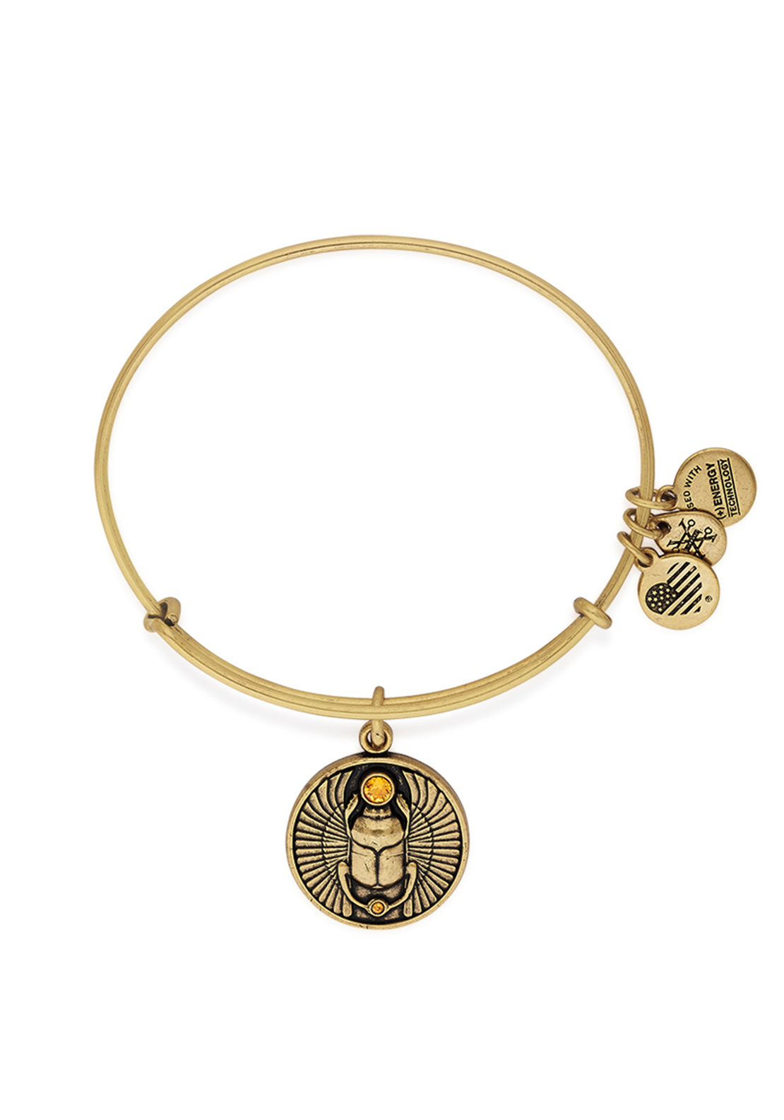Alex and Ani Scarab Bangle Gold
