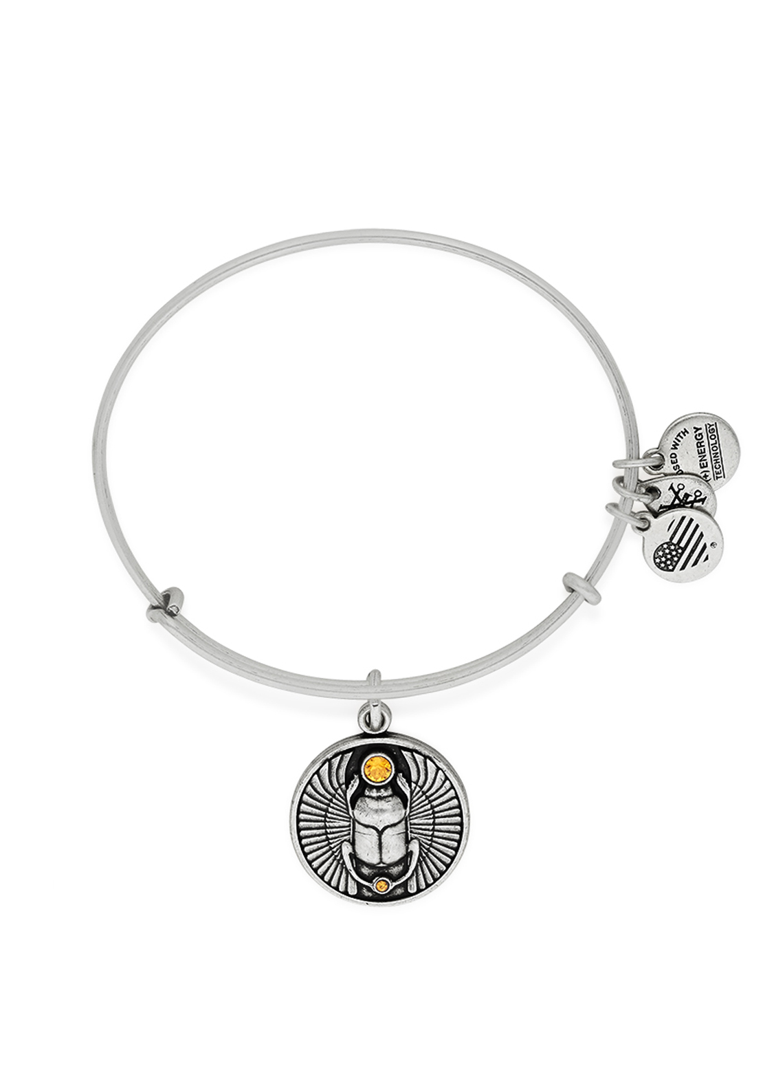 Alex and Ani Scarab Bangle Silver