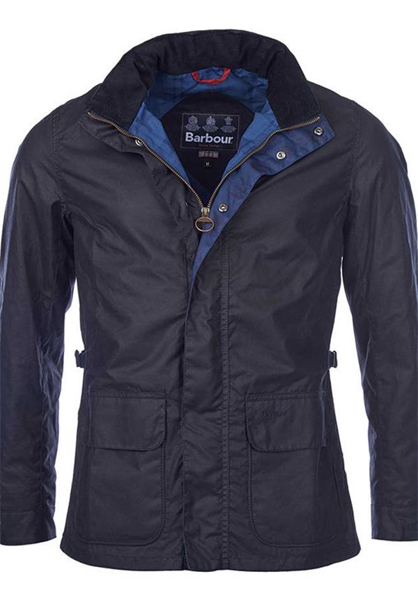 Barbour Mens Halkirk Waxed Jacket, Navy