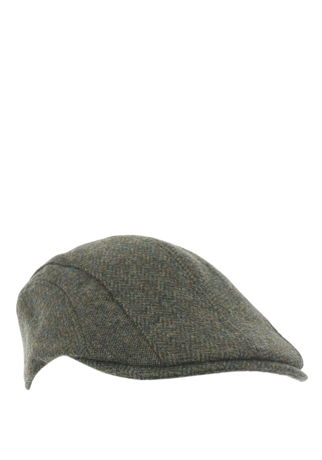 Barbour Men's Herringbone Tweed Cap, Green
