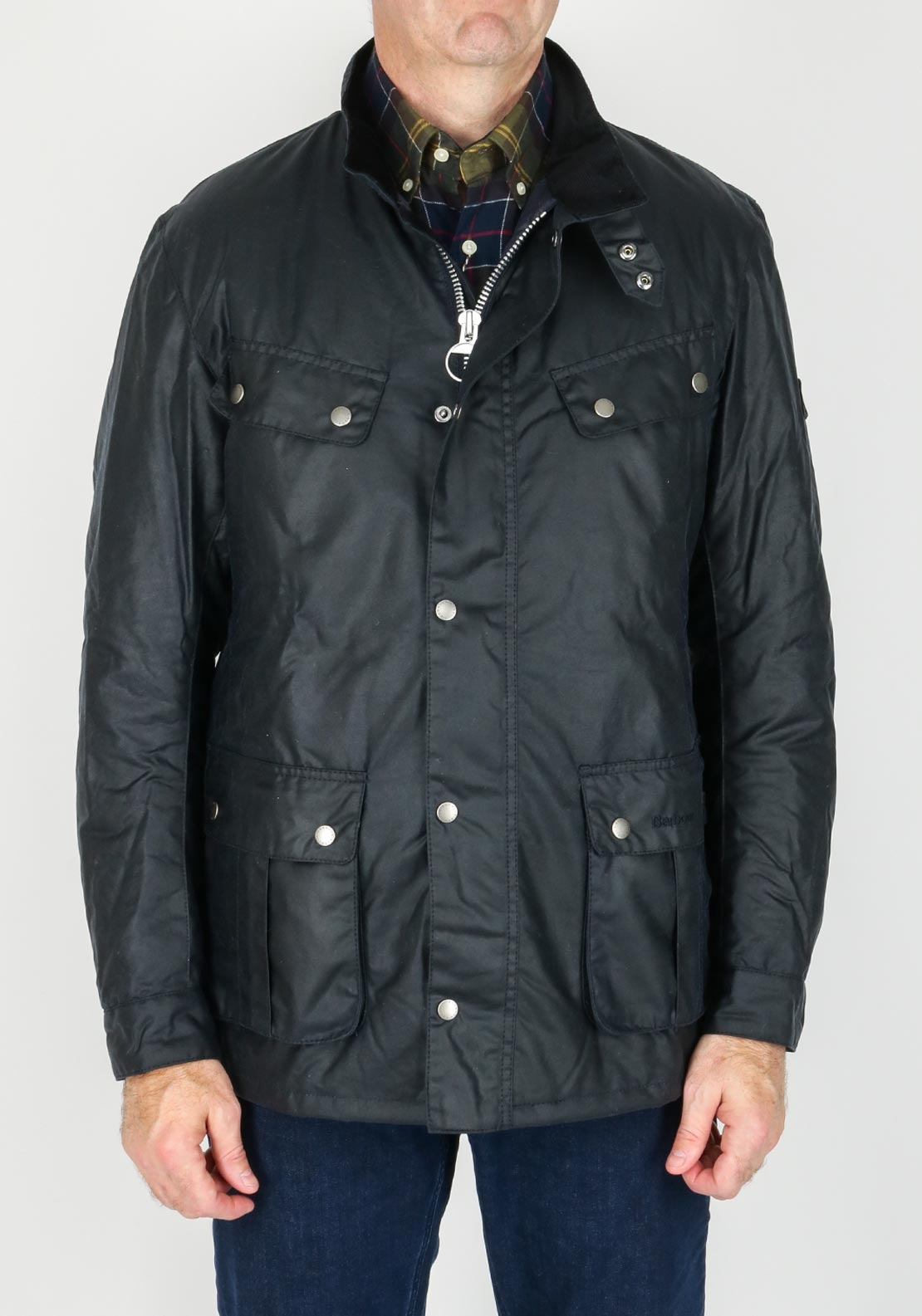 Barbour International Mens Duke Waxed Jacket, Navy