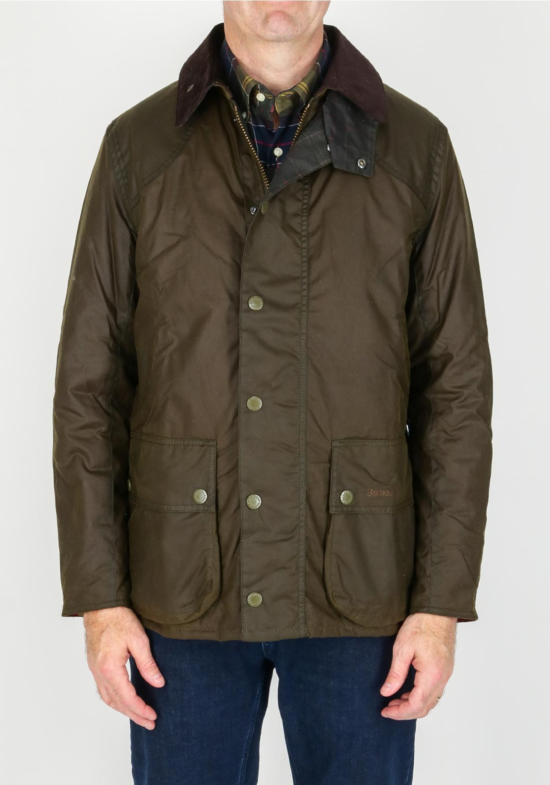 Barbour Mens Digby Waxed Jacket Olive Green