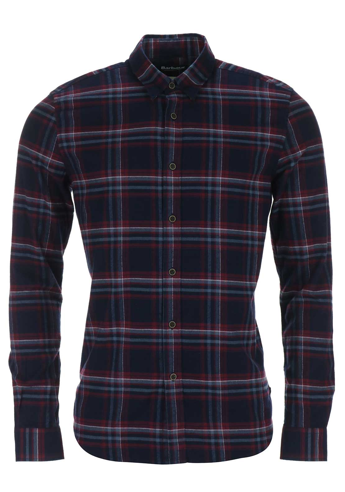 Barbour International Mens Lane Checked Shirt, Red Multi