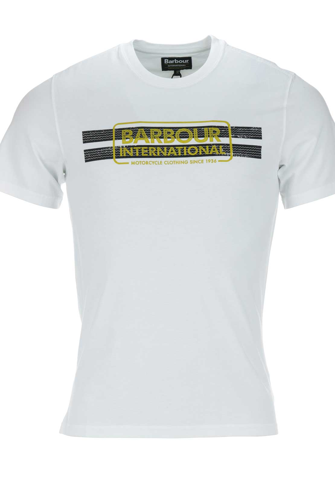 Barbour International Mens Tyre Track Tee, White