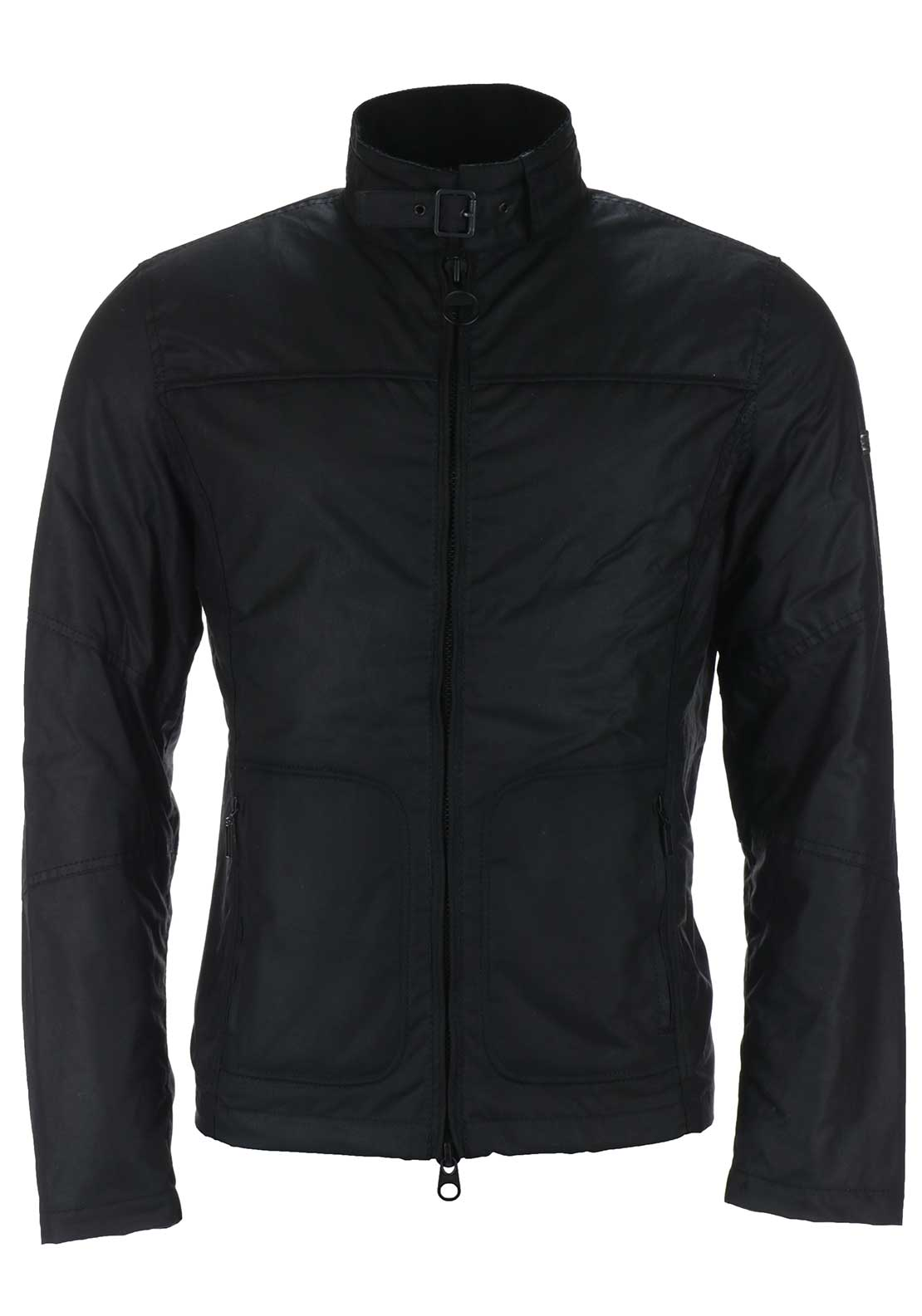 Barbour International Mens Winter Track Wax Jacket, Black