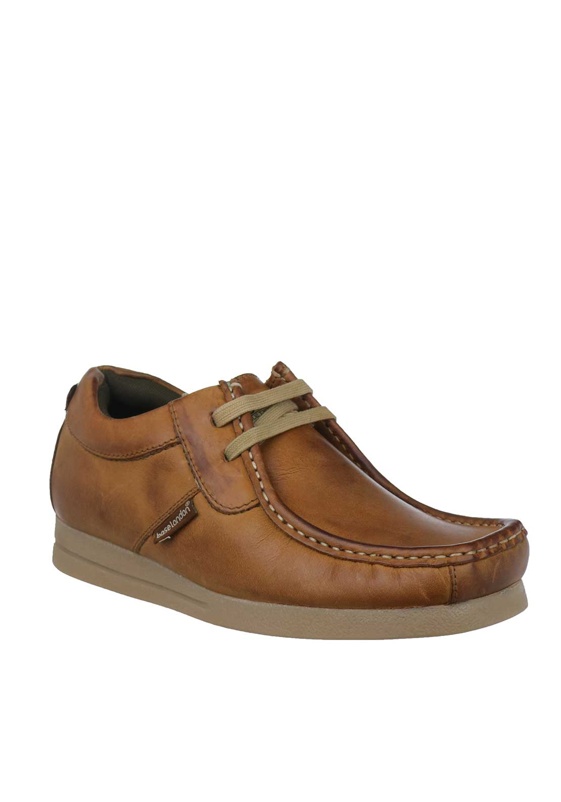 Base London Storm Crazy Leather Shoes, Tan