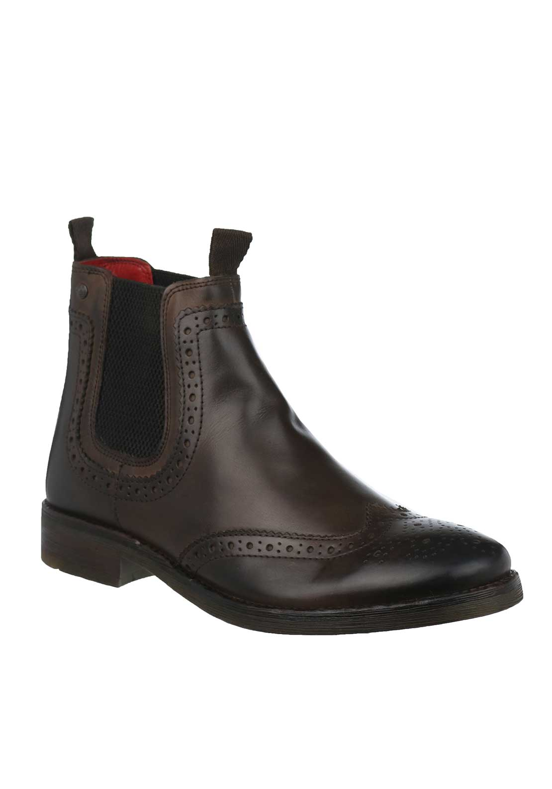 Base London Southwark Burnished Chelsea Boots, Brown