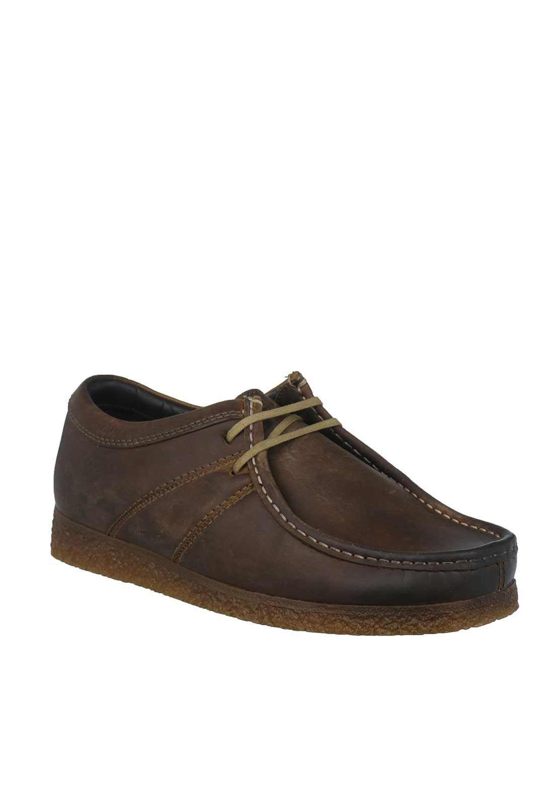 Base London Legacy Pull Up Leather Shoes, Brown