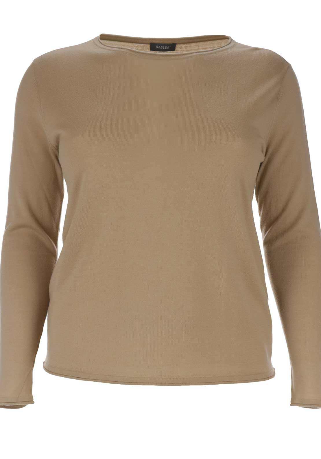 Basler Wool Sweater Jumper, Tan