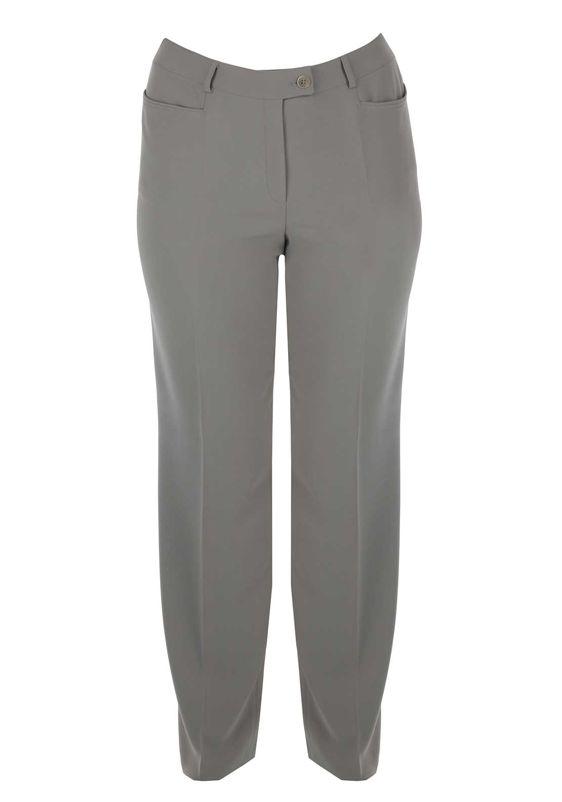 Basler Regular Fit Trousers, Stone Grey