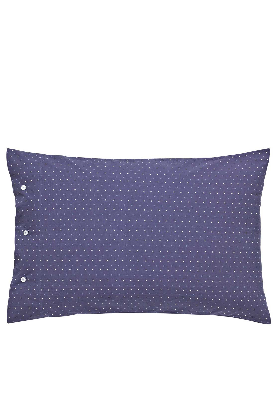 Peacock Blue Loft Collection Berkeley Housewife Two Standard Pillowcases, Navy with Red Print