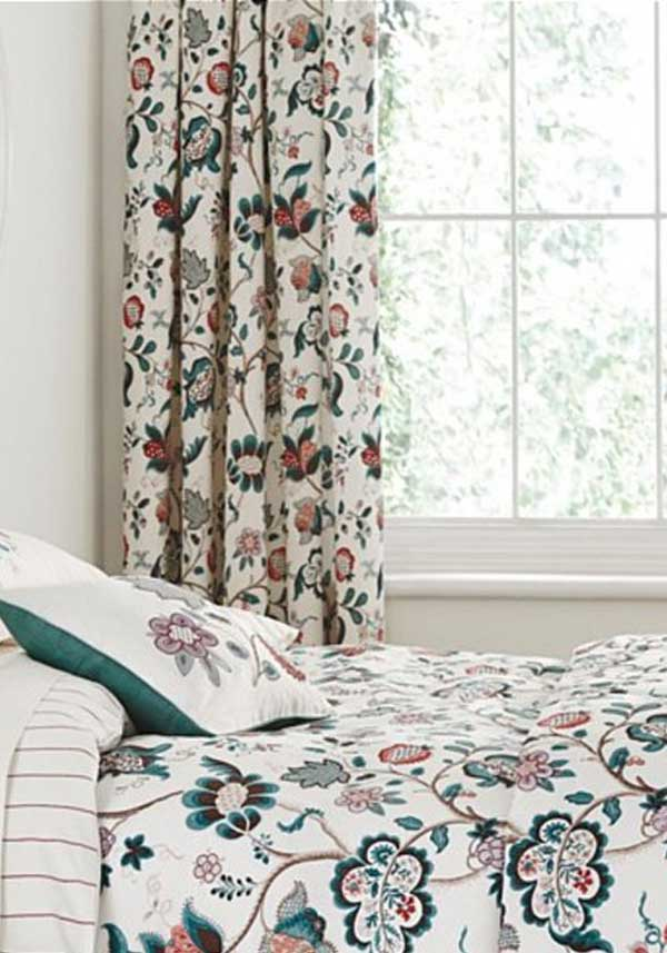 "Sanderson Options Roslyn Curtains, Green 66"" x 72"""