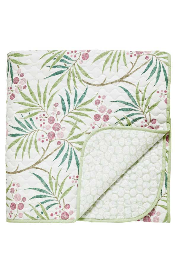 Sanderson Home Arberella Quilted Throw, Rose