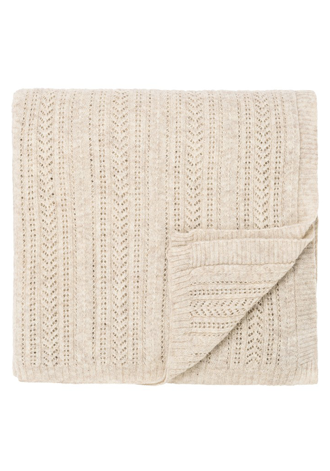 Fable Aura Knitted Throw, 140 x 200cm Linen