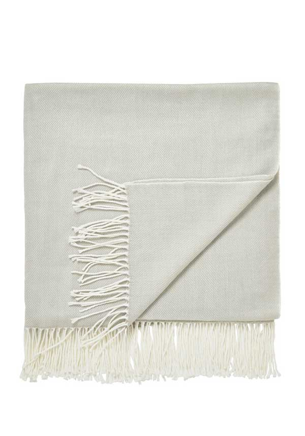 Helena Springfield White Collection Rialto Throw, Silver