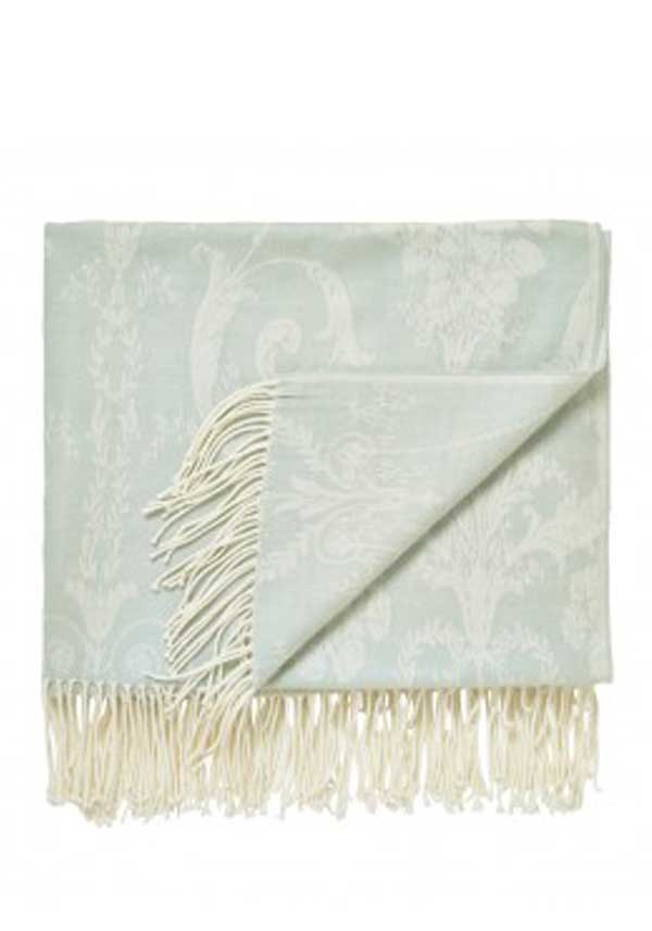 Helena Springfield White Collection Serephina Throw, Duck Egg