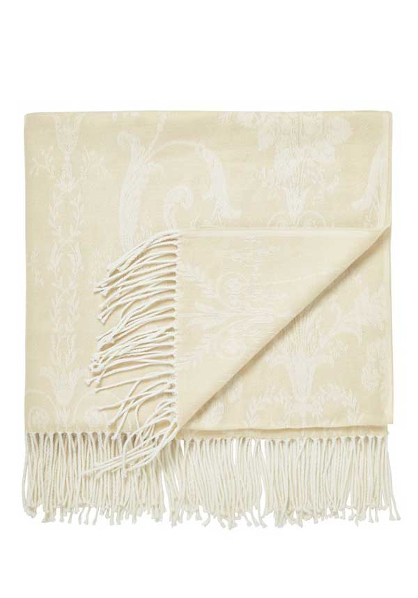 Helena Springfield White Collection Serephina Throw, Natural