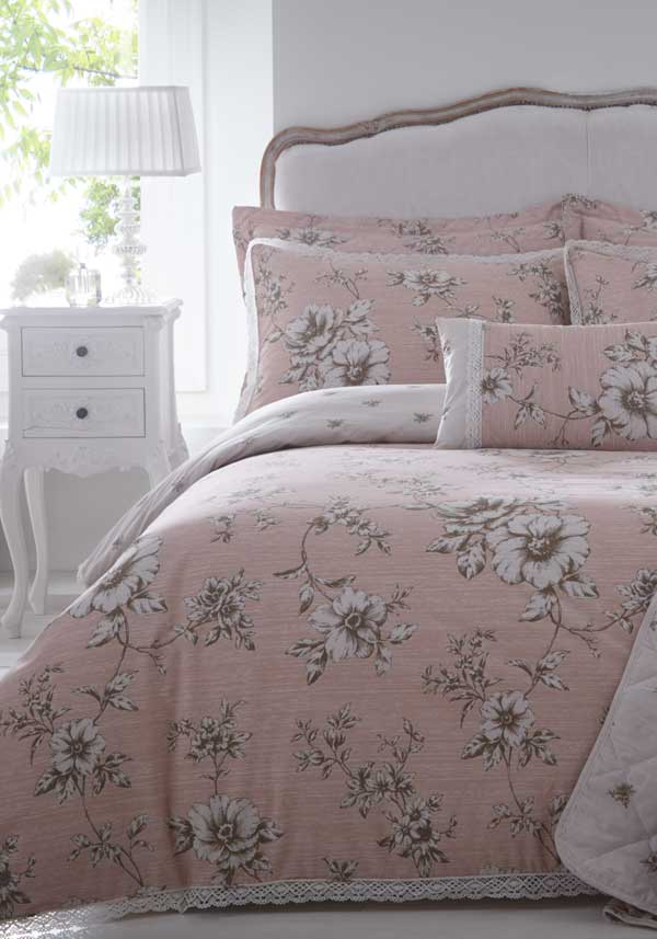 Country Classics Antoinette Embellished Percale Bed Spread Set, Pink
