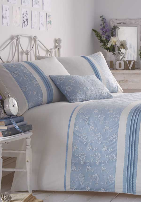 Eleanor James Indea Quilted Bed Spread, Blue
