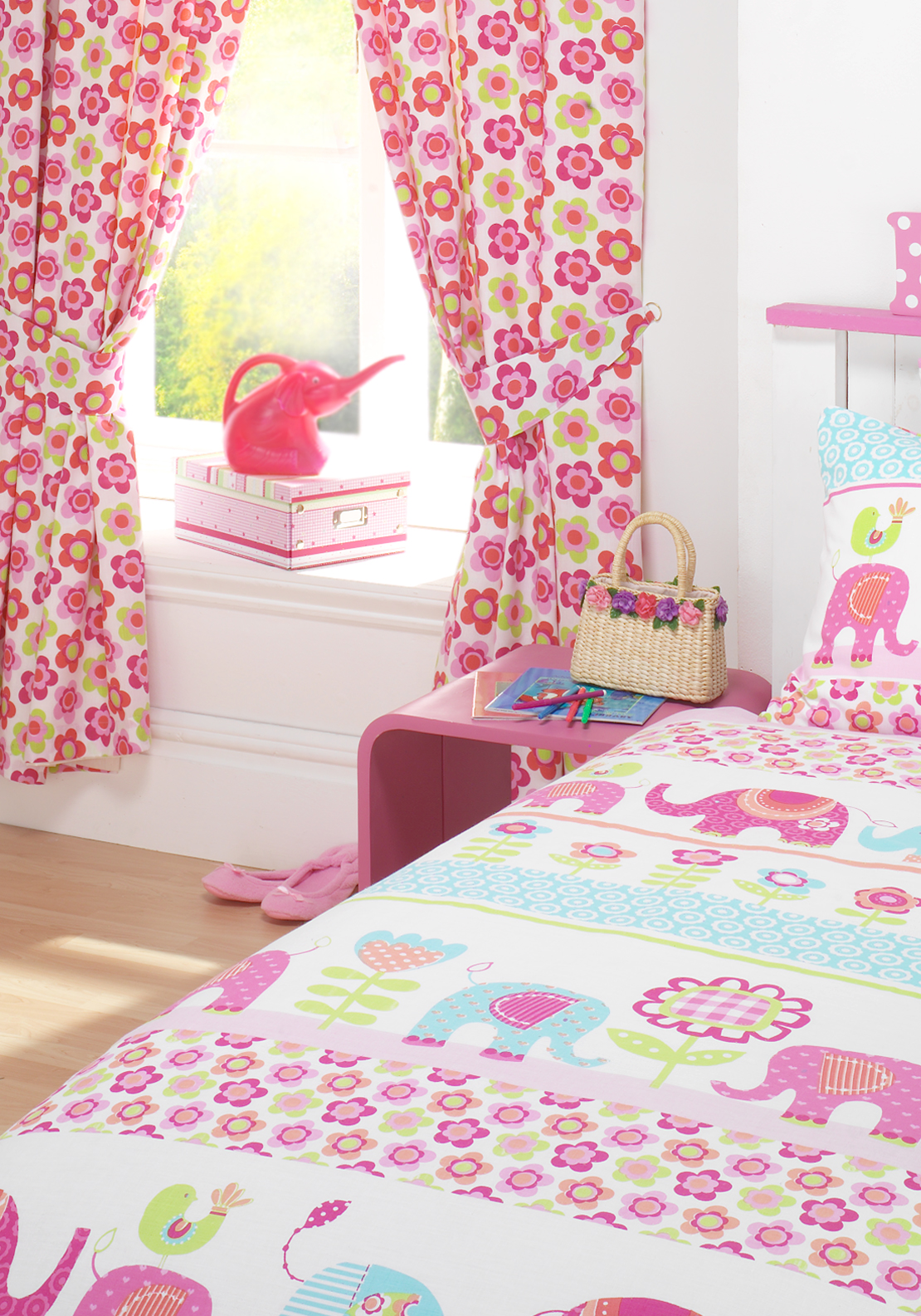 Kids' Club Nellie Curtains 66x72in, Pink