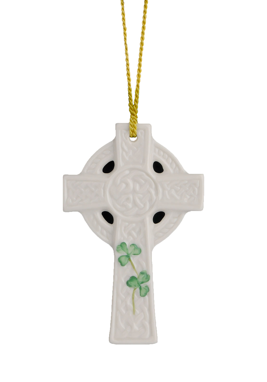 Belleek St Kiernan's Cross Hanging Ornament, White