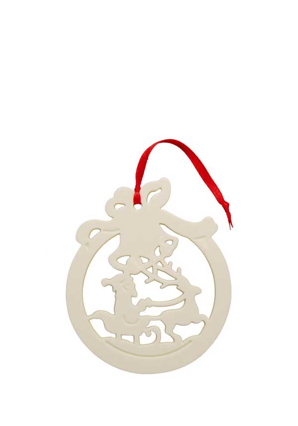 Belleek Living Christmas Santa Bauble Ornament