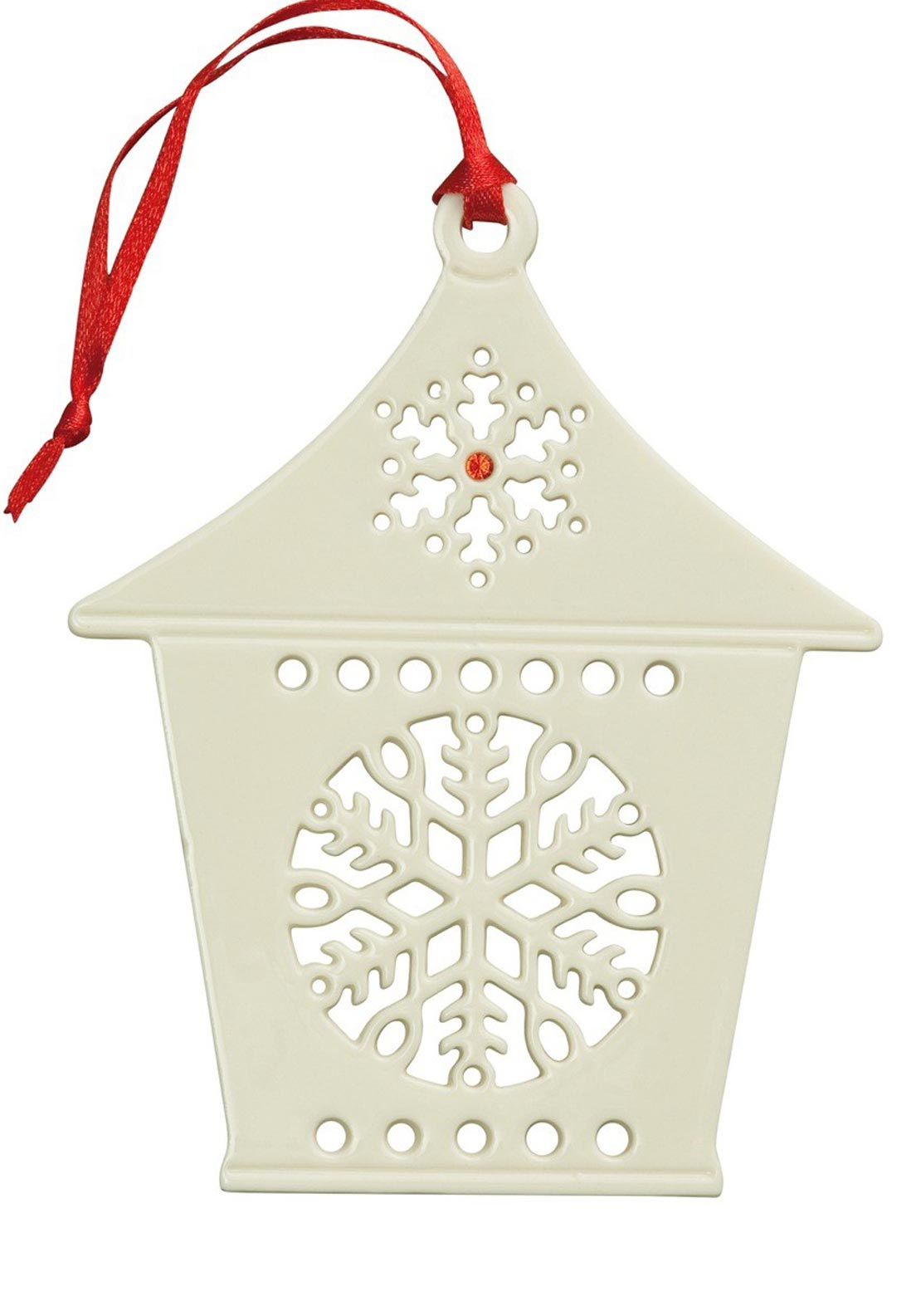 Belleek Living Christmas Hanging Snowflake Lantern Ornament