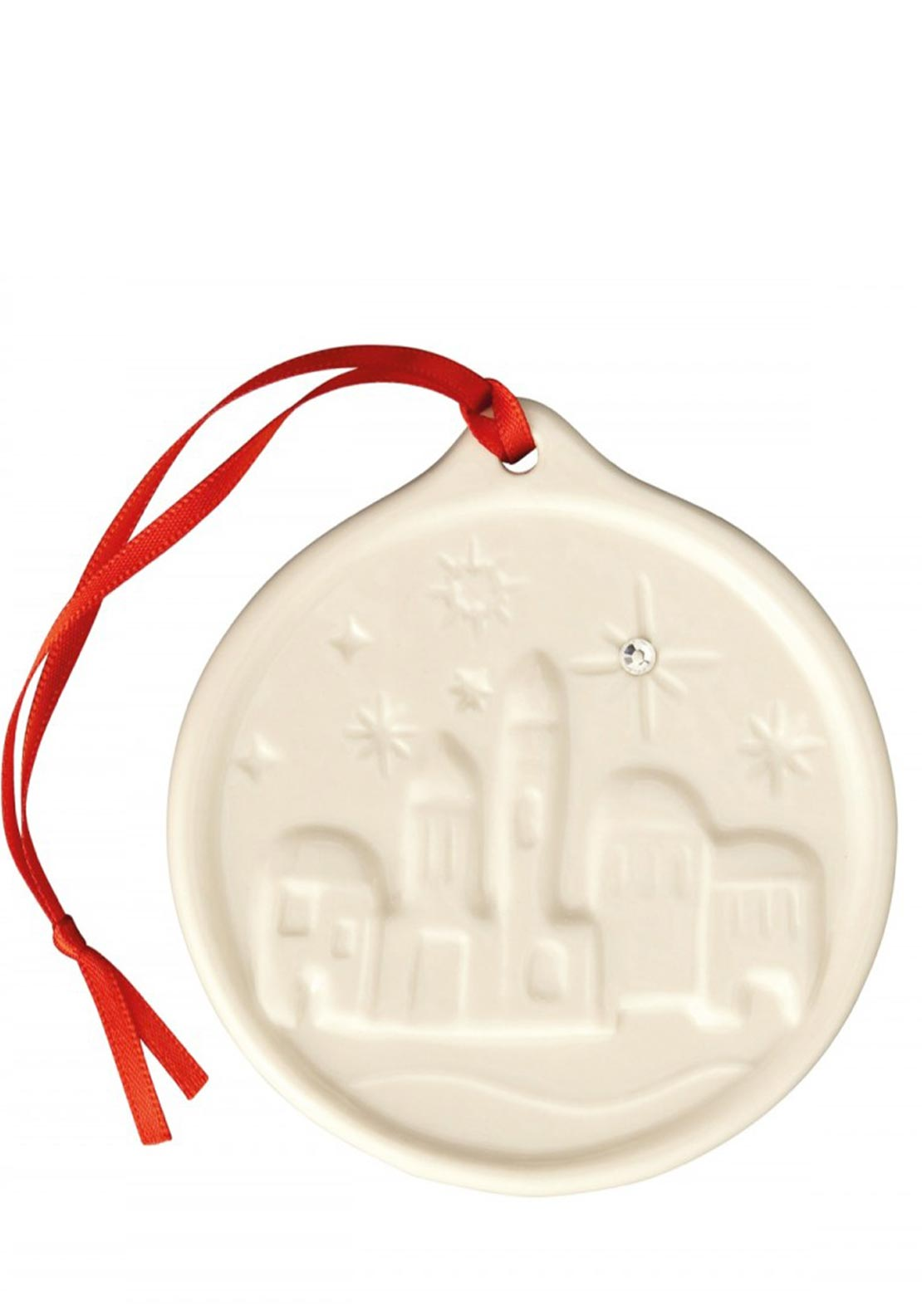 Belleek Living Christmas Little Town of Bethlehem Hanging Decoration