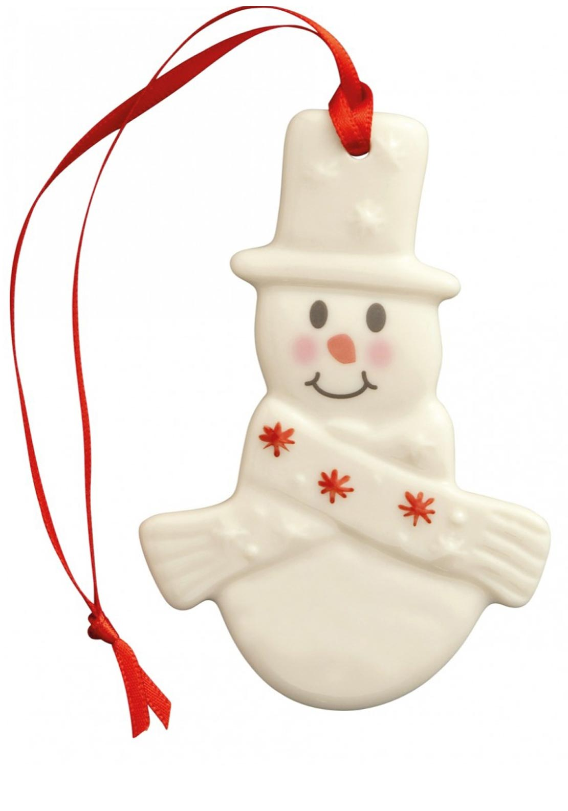 Belleek Living Christmas Plain Snowman Ornament