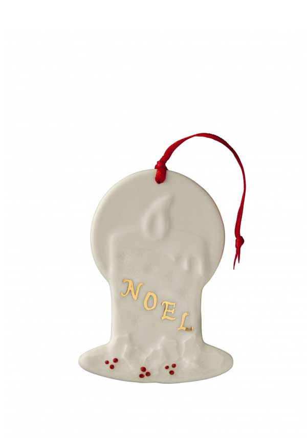 Belleek Living Christmas Candle Ornament