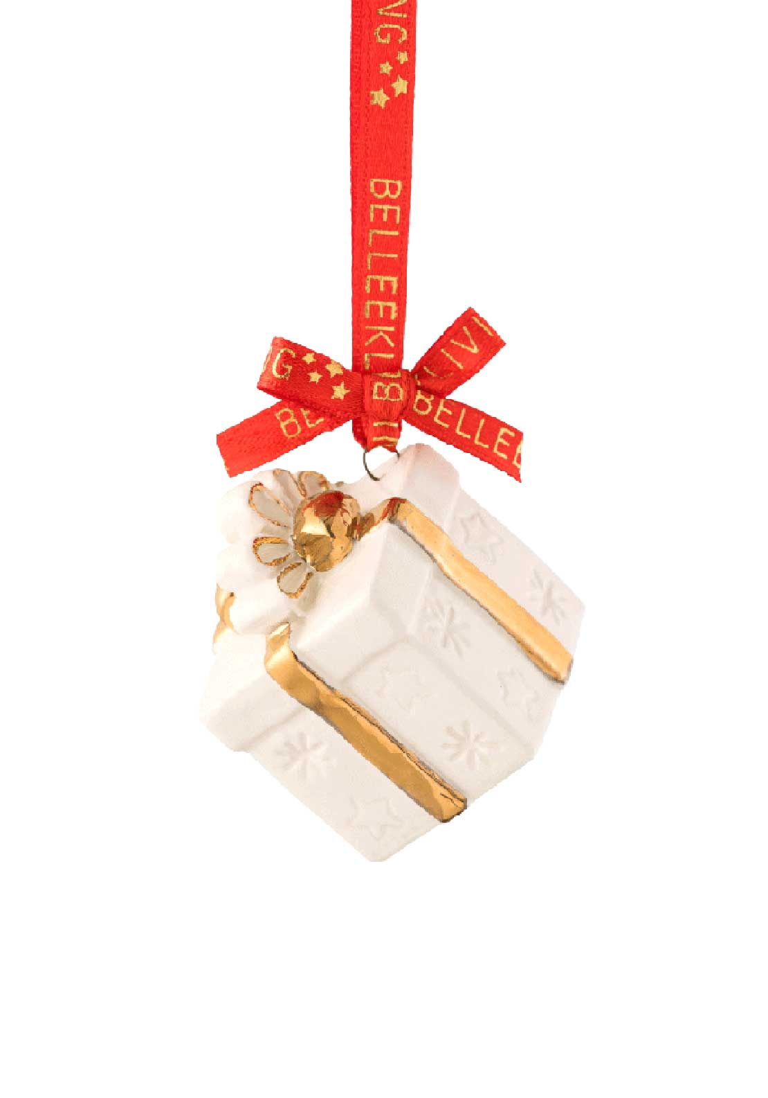 Belleek Living Christmas Treasures Gift Box Tree Decoration