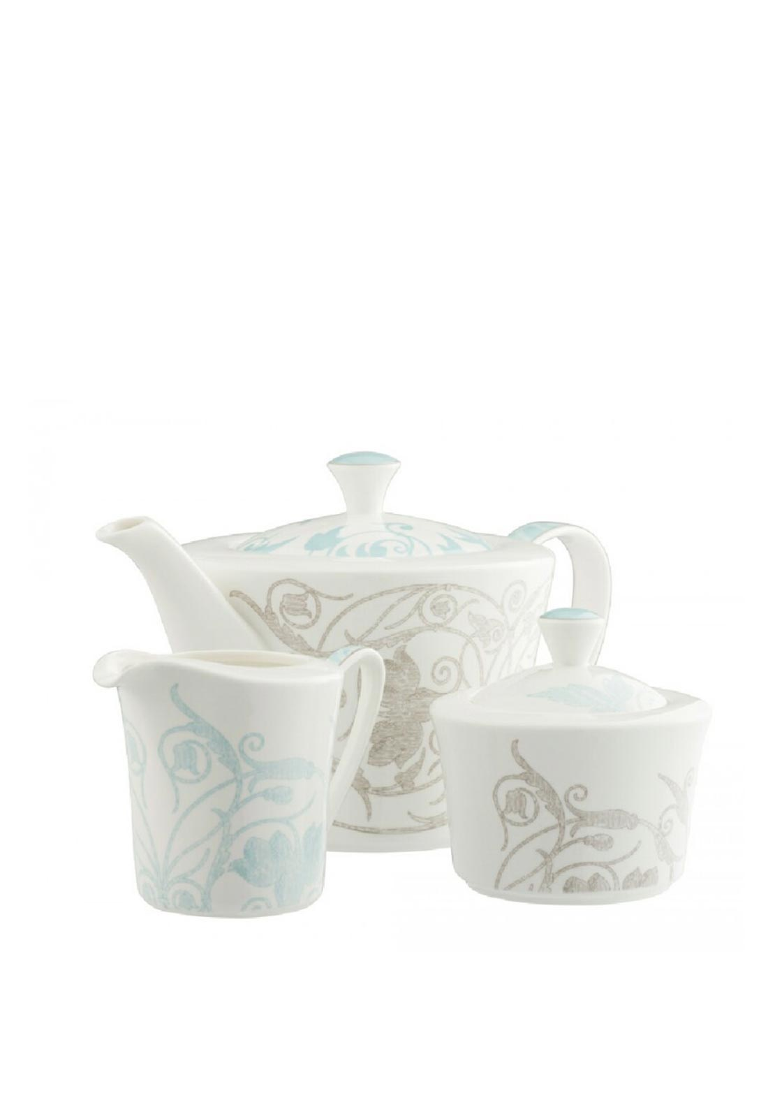 Belleek Living Novello Teapot Set, White