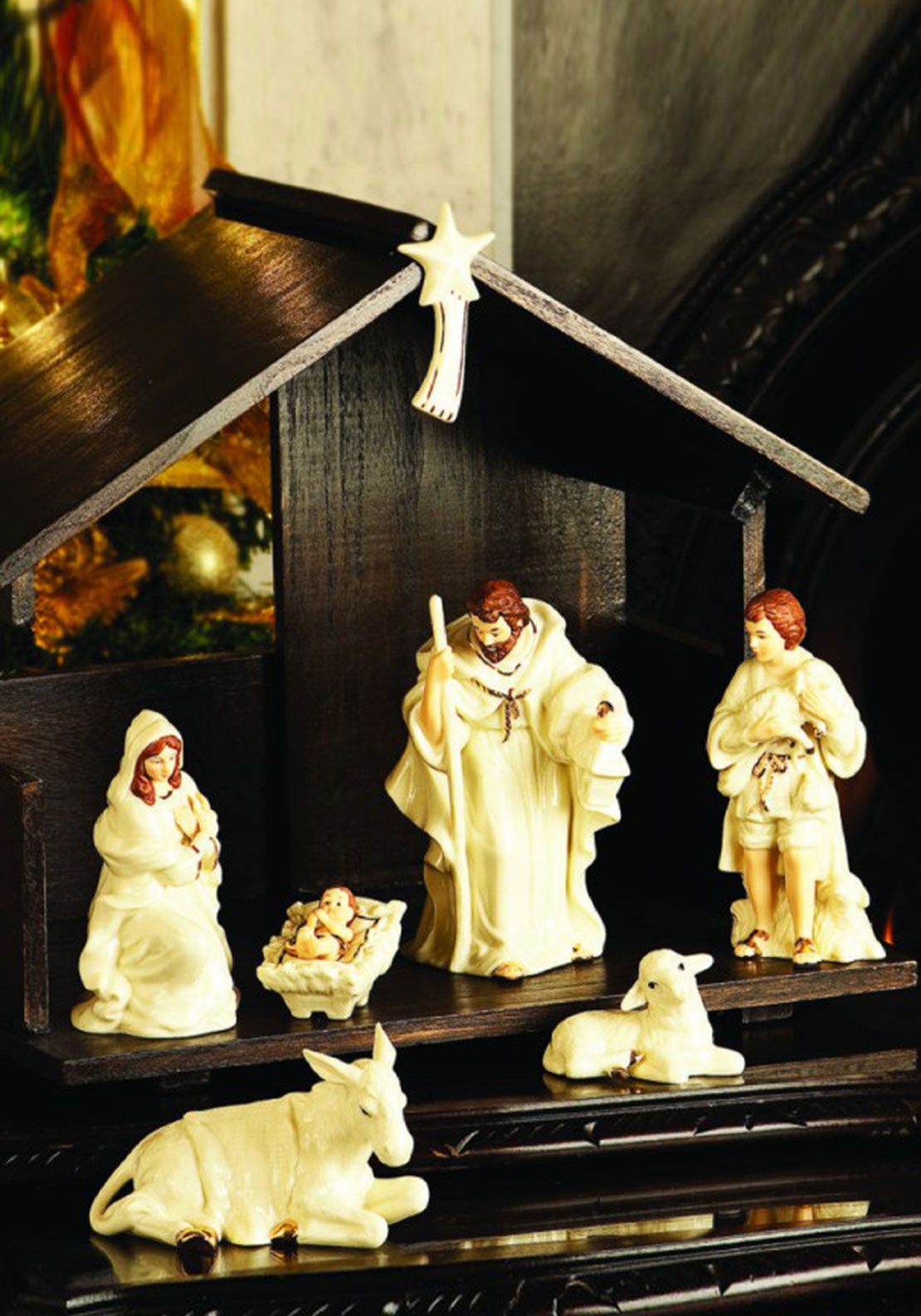 Belleek Christmas Nativity Scene