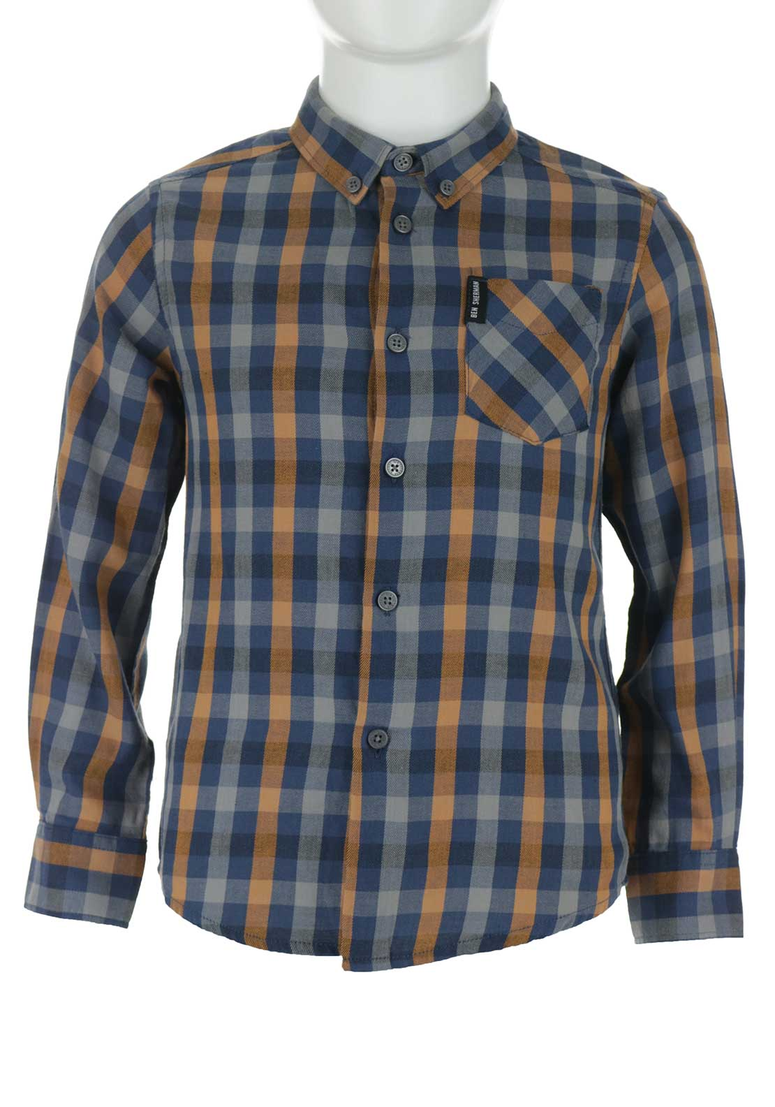 Ben Sherman Boys Chequered Shirt, Multi