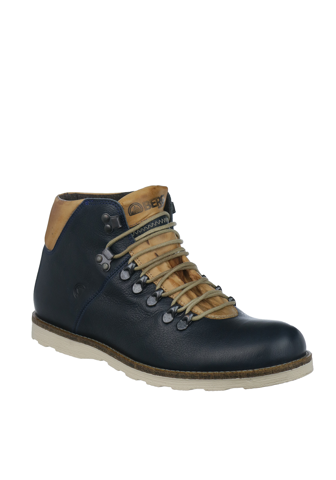 Berg Mens Bombay Leather Boots, Navy