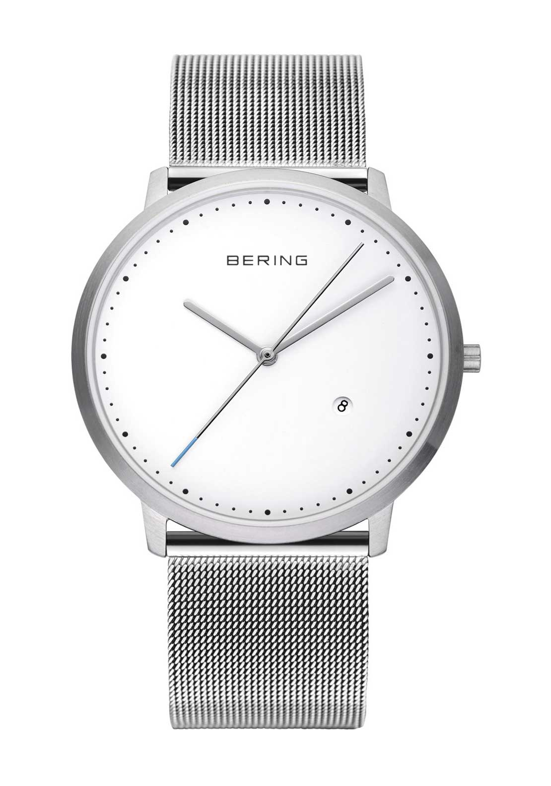 Bering Unisex Milanese Watch, Silver