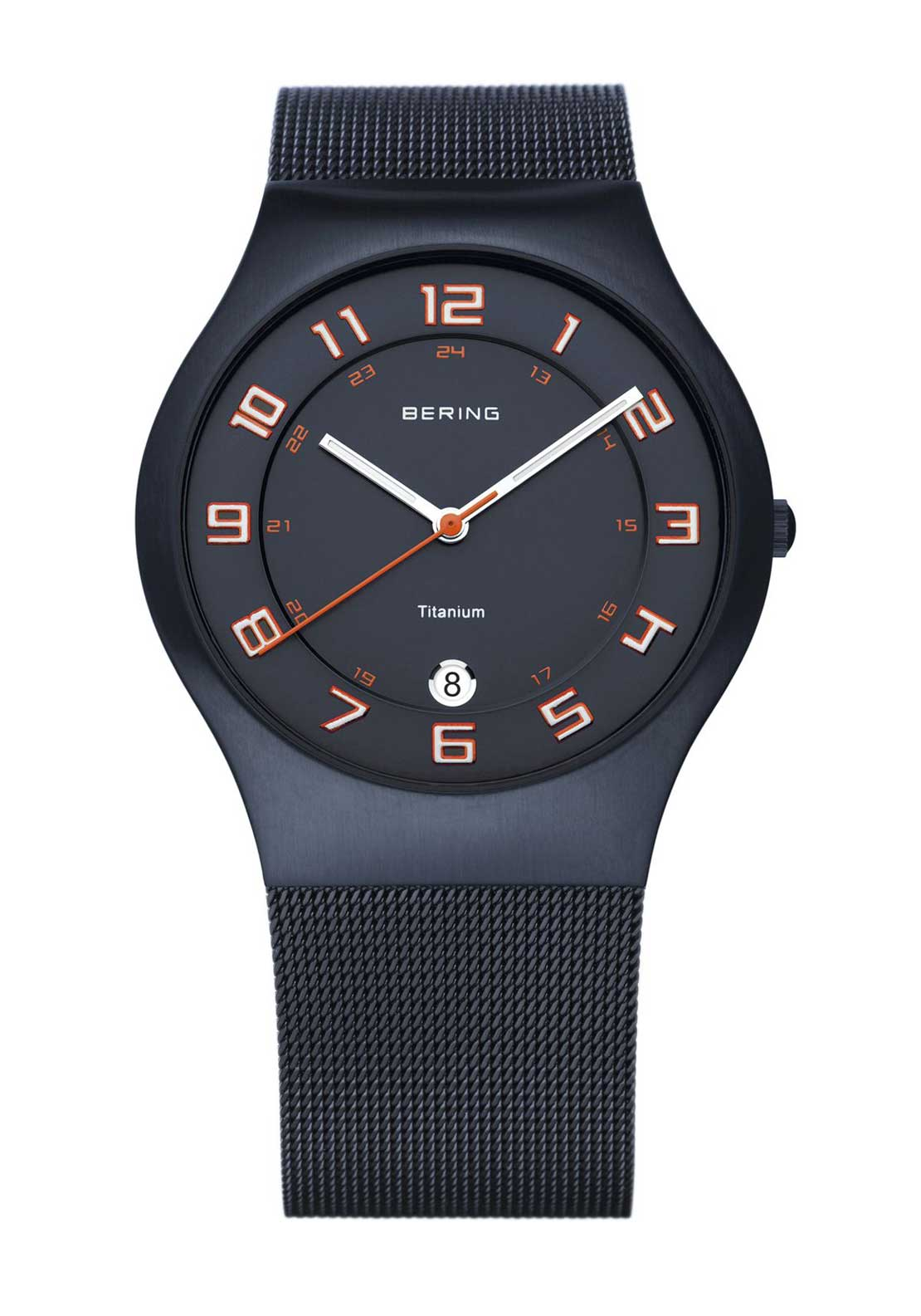 Bering Unisex Sporty Milanese Watch, Navy