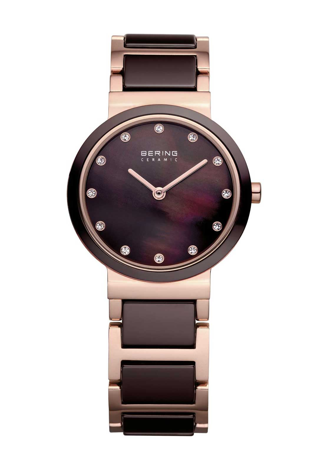 Bering Two Tone Slim Watch, Wine
